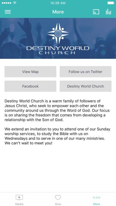 Destiny World Church screenshot 3