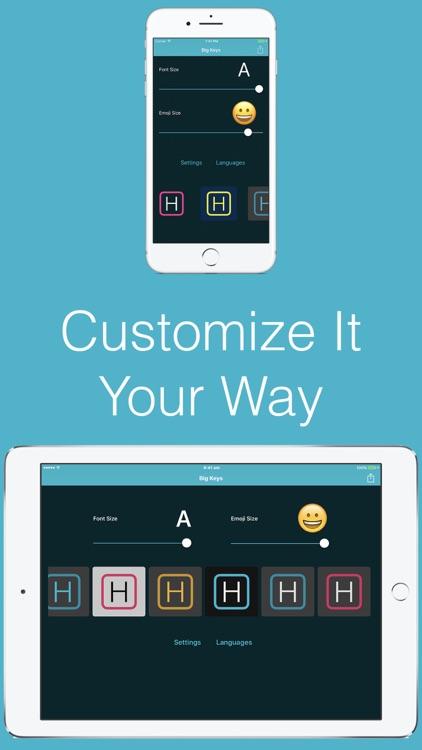 Big Keys: Large Keyboard & Emoji QWERTY Magnifier screenshot-4