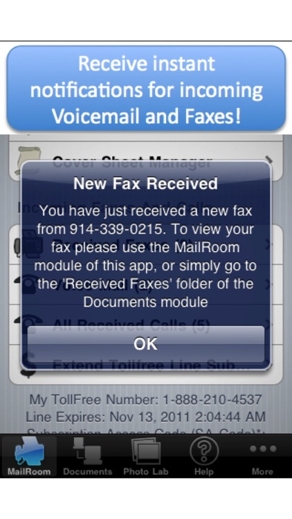 My Toll Free Number - with VoiceMail and Fax