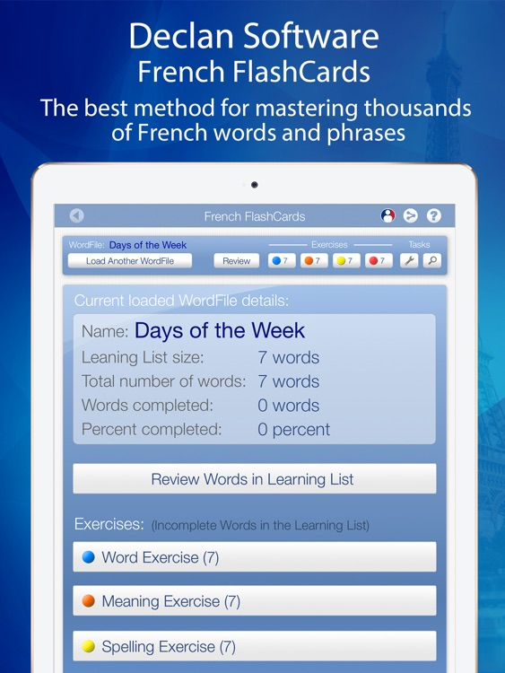 Learn French FlashCards for iPad