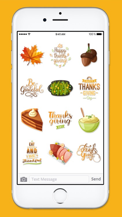 Happy Thanksgiving Fall and Autumn Sticker Pack screenshot-3