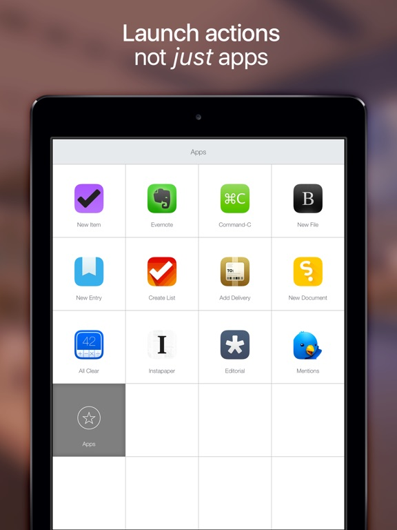 Launch Center Pro for iPad - Shortcut launcher Screenshot