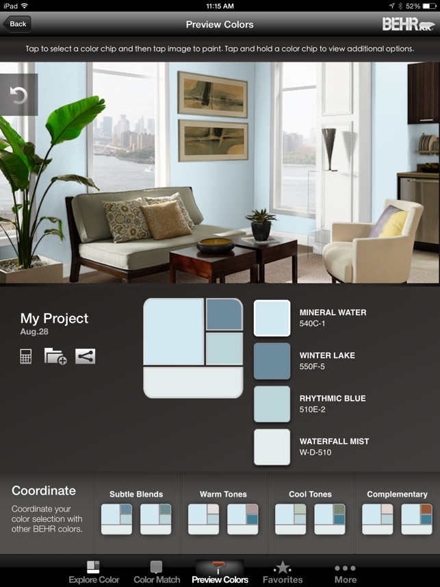 Colorsmart By Behr Mobile On The