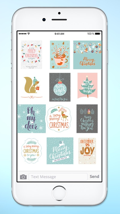 Happy Holidays Christmas Tags Sticker Pack screenshot-3