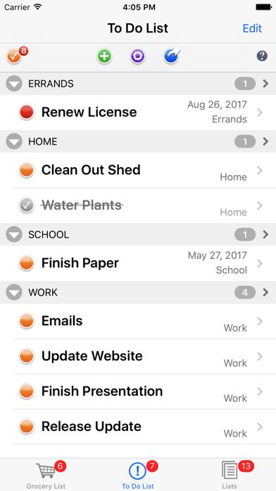 List Omni Lists screenshot two