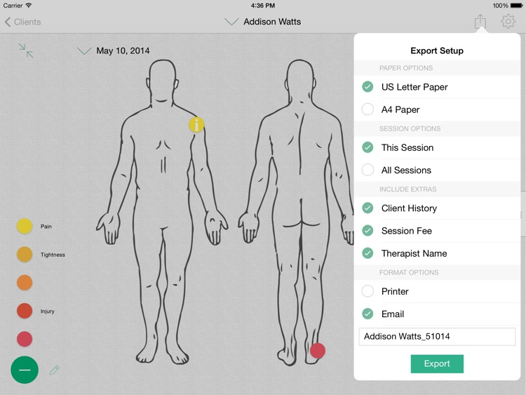 Massage Therapist Notebook screenshot-3