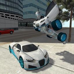 Flying Car Robot Flight Drive Simulator Game 2017