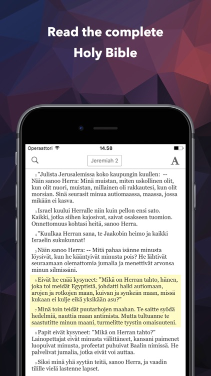 Pyhä Raamattu (Finnish Bible) screenshot-0