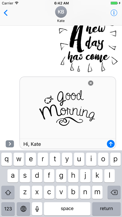 Good Morning Typography Stickers for iMessage screenshot four