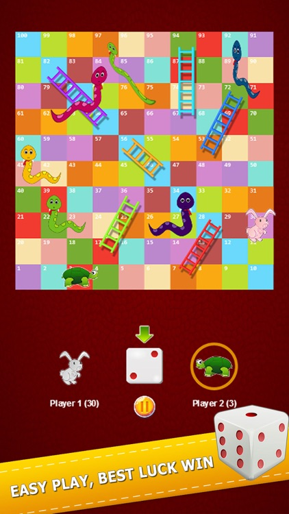 Flashy Snake And Ladders Game Two Player Classic screenshot-3