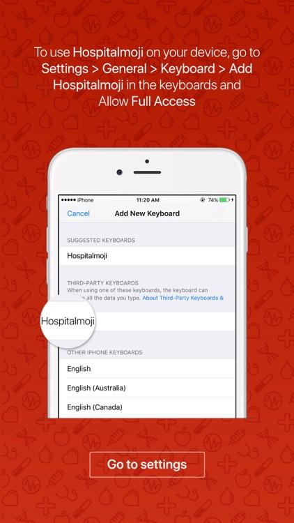 Hospitalmoji - emoji keyboard sticker for hospital screenshot-3