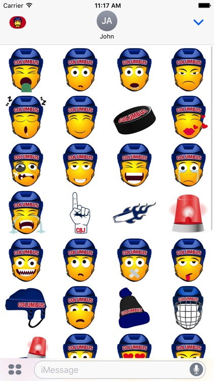 Columbus Hockey Stickers & Emojis screenshot-3