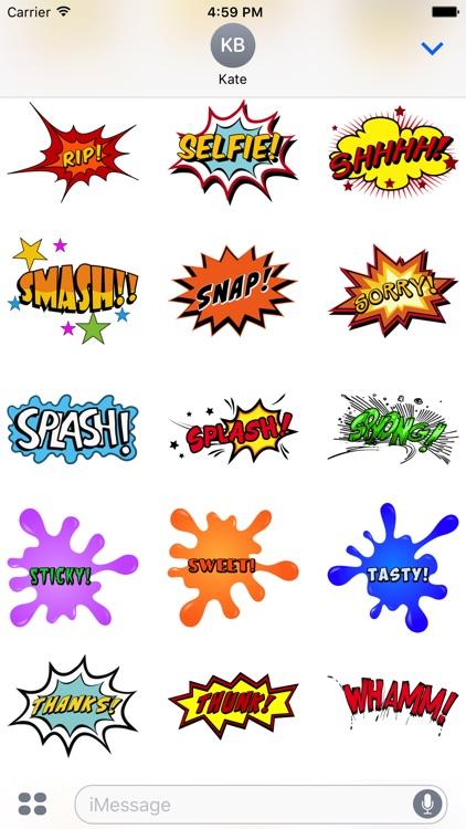 Comic Stickers #1-Pop Art for iMessage screenshot-4