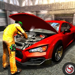 Real Sports Car Mechanic Garage