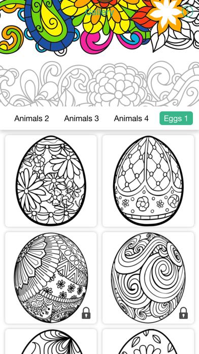 マンダラ 無料の塗り絵 着色アプリのスクリーンショット2