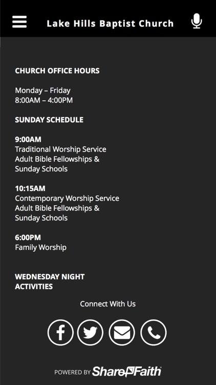 Lake Hills Baptist Church screenshot-3
