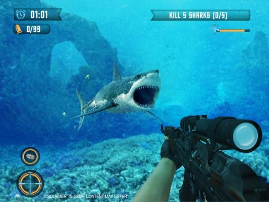 サメの狙撃兵-スピアフィッシング ゲーム素晴らしい白い顎のおすすめ画像3
