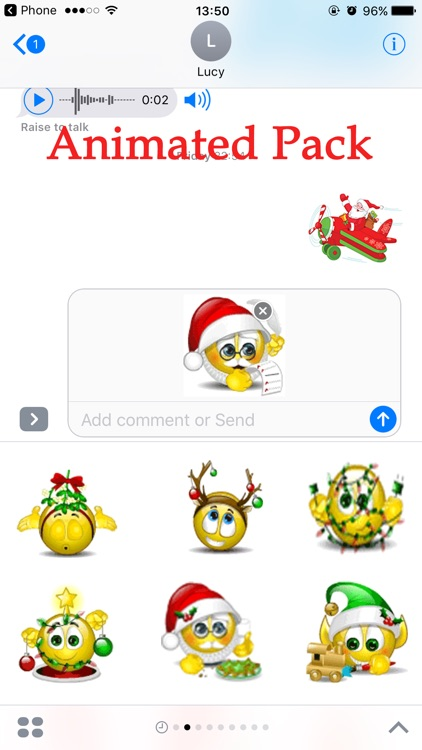 Santa Animated Emoji Stickers Pack for Texting