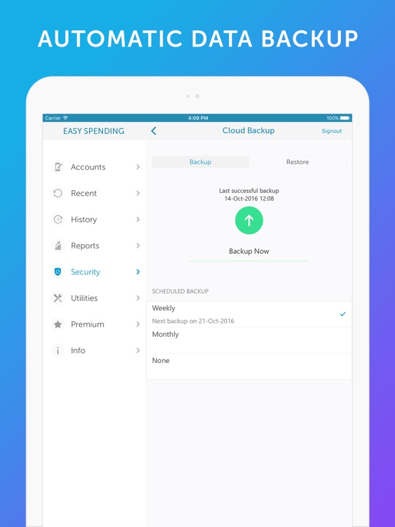 Screenshot #3 for Easy Spending -Expense Tracker