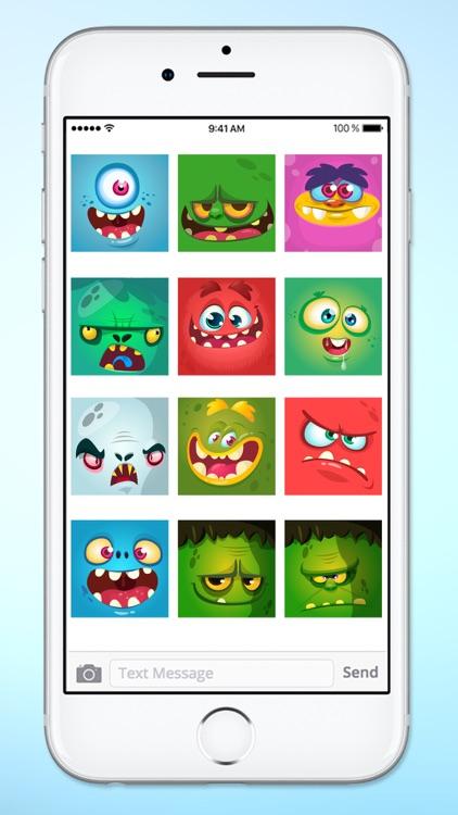 Monster Face Emoji Sticker Pack 1 screenshot-4