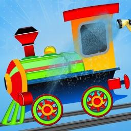 Train Engine Wash : Toddler Train Sim