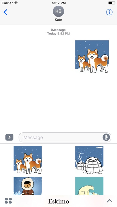 Eskimoji - Eskimos Emoji Stickers screenshot 1