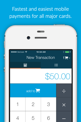 Fattmerchant Payments Mobile screenshot 1
