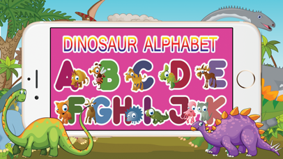 A-Z Dinosaur Alphabet Trace Flashcards for Toddler screenshot one