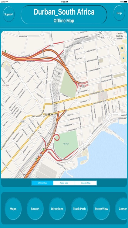 Durban South Africa Offline City Maps Navigation
