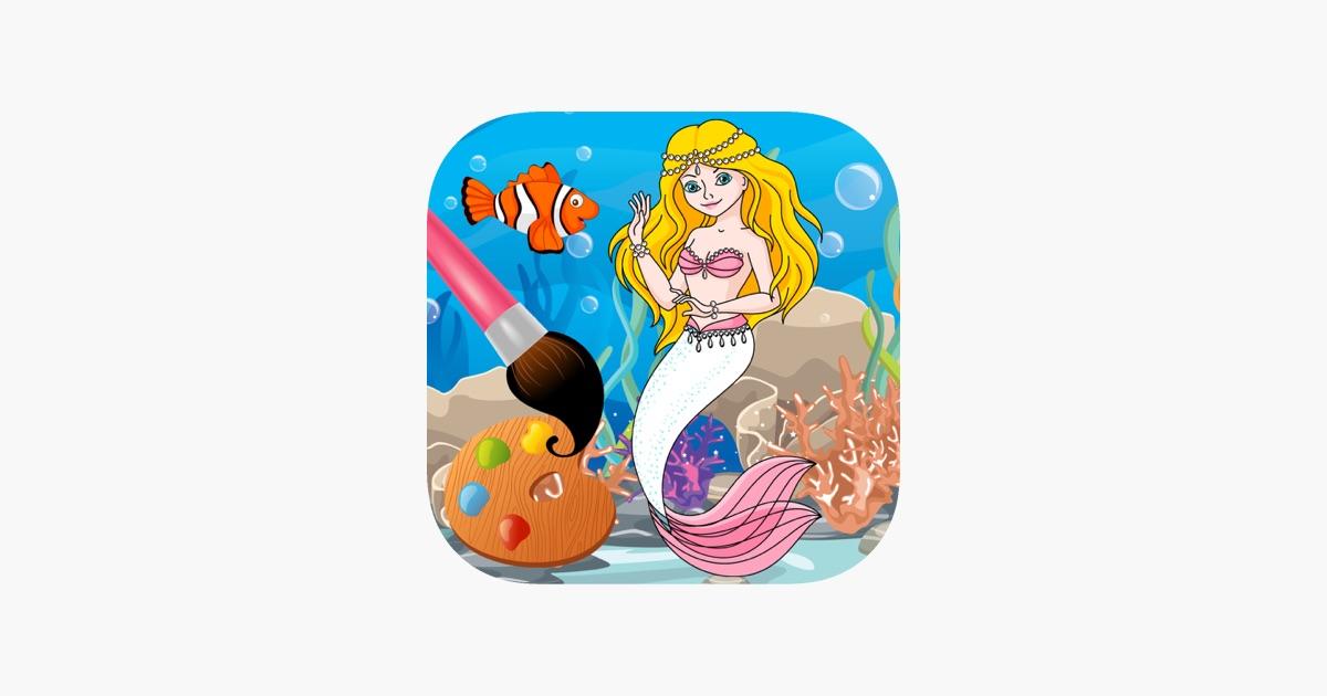 Sirena Juegos De Colorear Gratis Para Niñas En App Store