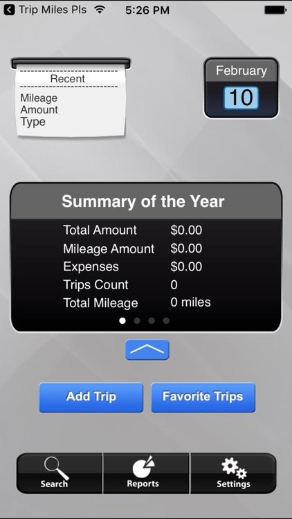 Trip Miles (Mileage log for Reimbursement or IRS)