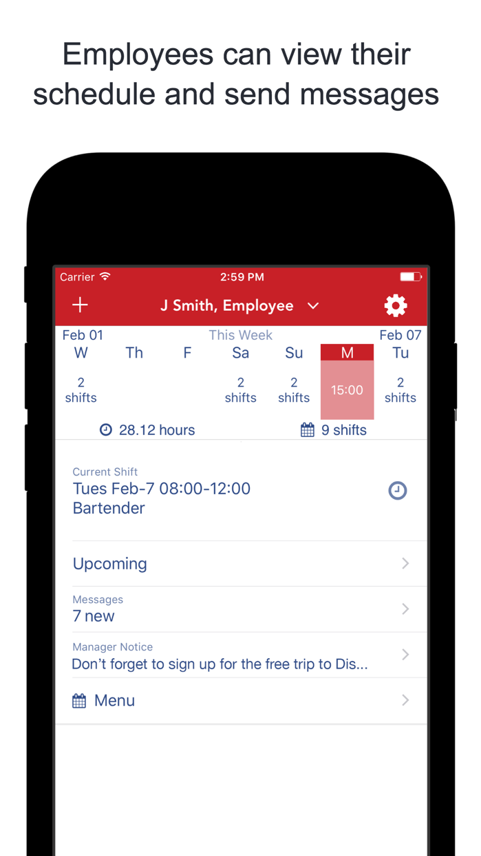 WhenToWork Employee Scheduling Screenshot
