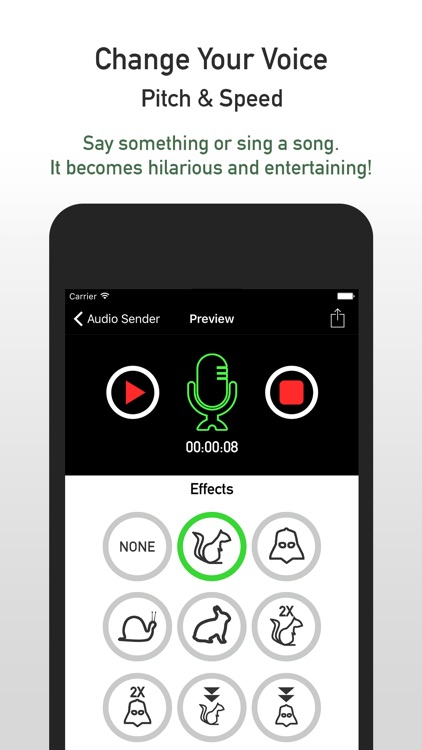 Audio Sender - Audio Memo and Voice Changer