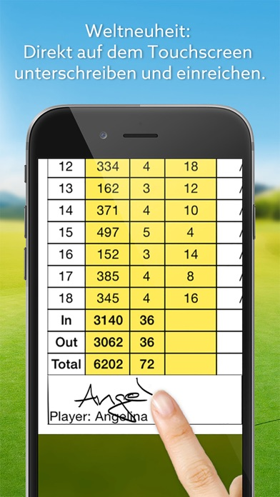 Screenshot for Expert Golf – Scorekarte in Germany App Store