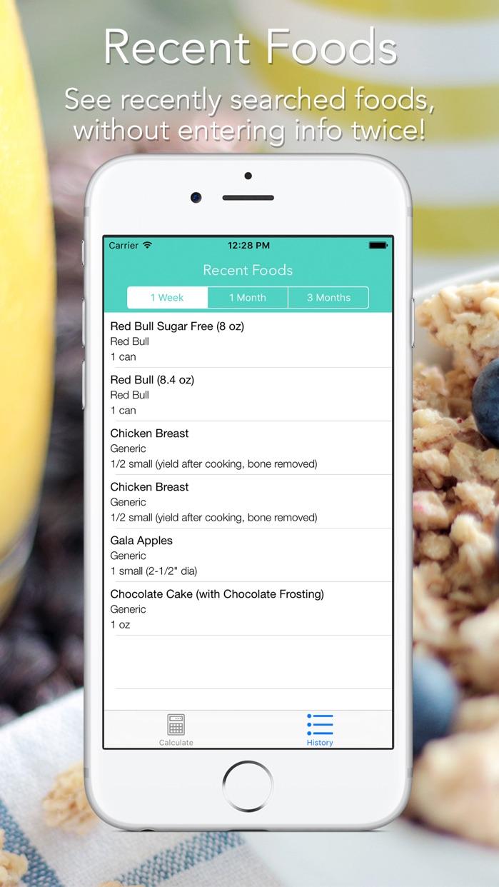 Food Score Calculator for Weight-Loss Nutrition Screenshot