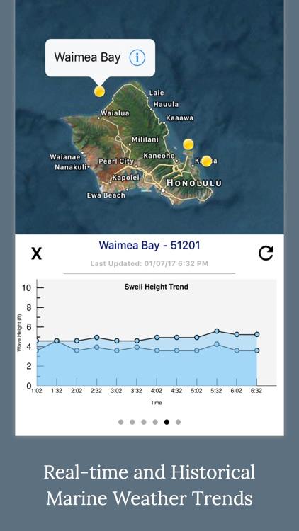 Marine Weather Forecast - NOAA Buoy Data and Tides