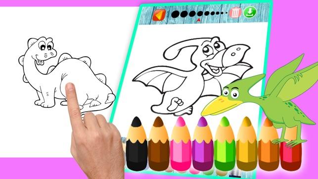 dinosaurier malvorlage kinder  zeichnen und färben