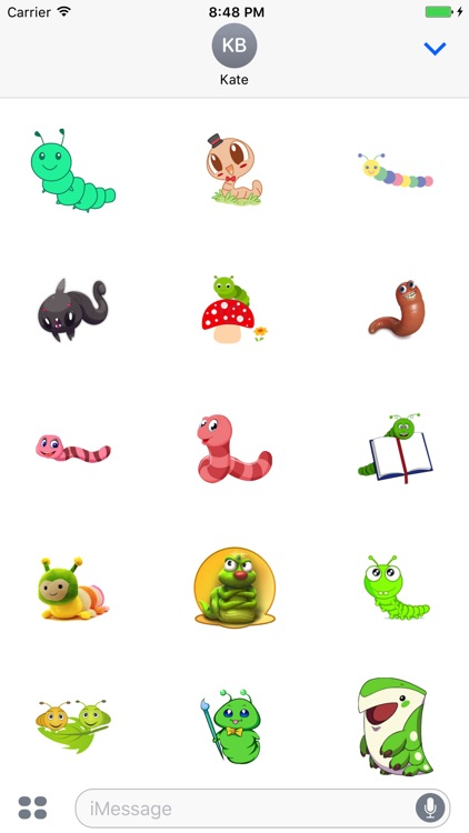 Worm Cute Stickers