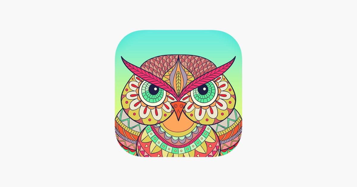 Einfärben: ein freies Malbuch für Erwachsene im App Store