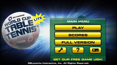World Cup Table Tennis™ Lite ScreenShot0