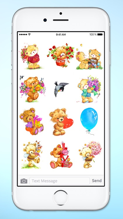 Teddy Bear Birthday and Love Sticker Pack screenshot-2