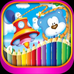 Dream dolls and toys coloring for kindergarten