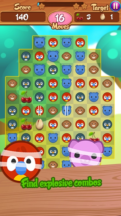 Cute Safari: Match 3 Puzzle