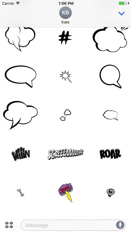 Comic Talk Stickers Pack 03 screenshot-4