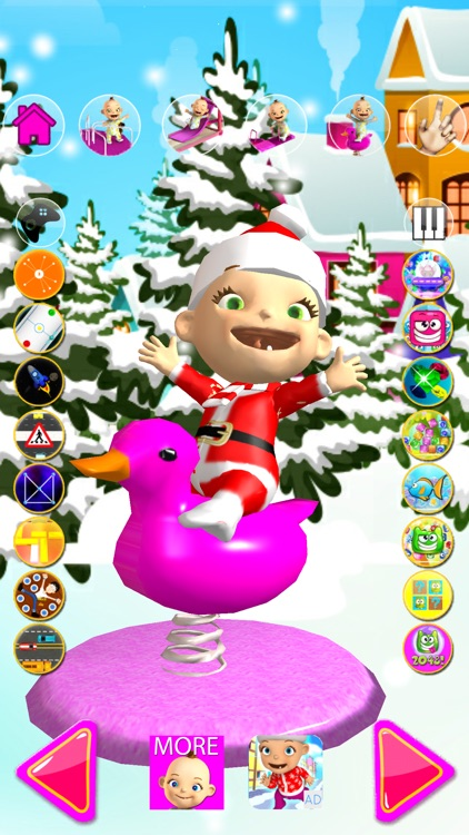 Talking Babsy Baby Xmas Games