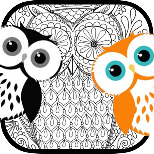 stress relieving coloring pages owls - photo#12