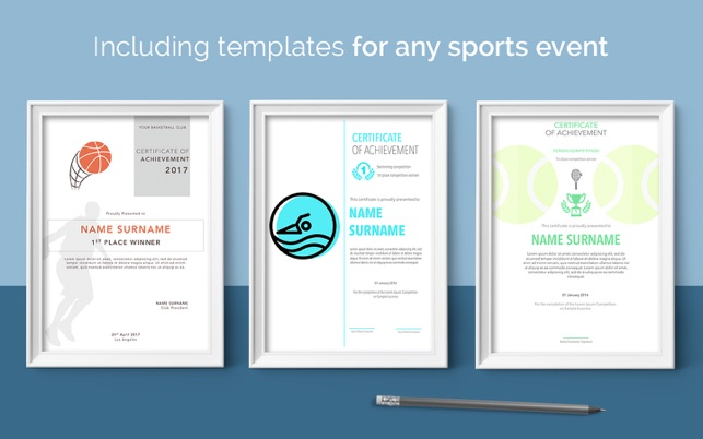 Certificate templates 70 templates for pages on the mac app store yadclub Choice Image