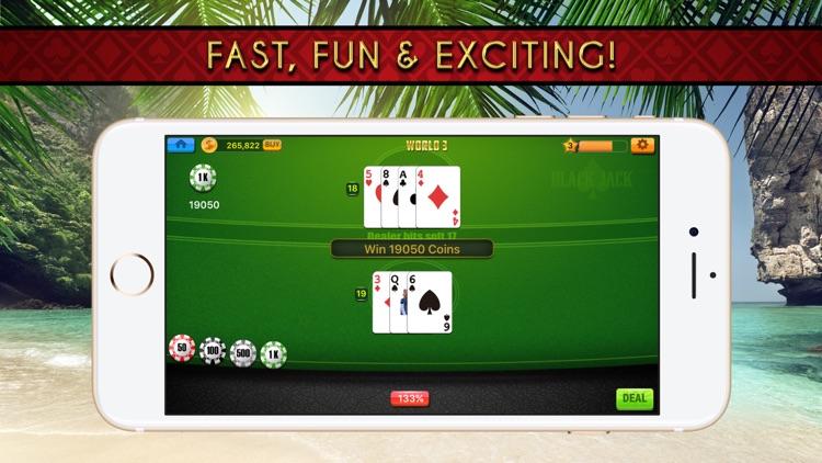 Blackjack 21 Classic Casino With Treasure Chest screenshot-4