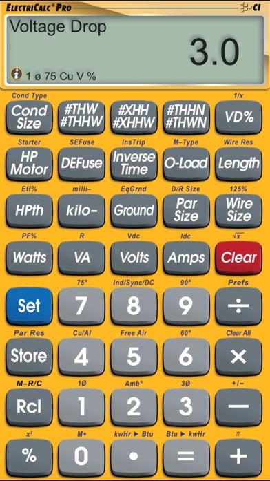 Electricalc pro advanced nec code calculator by calculated screenshots keyboard keysfo Gallery