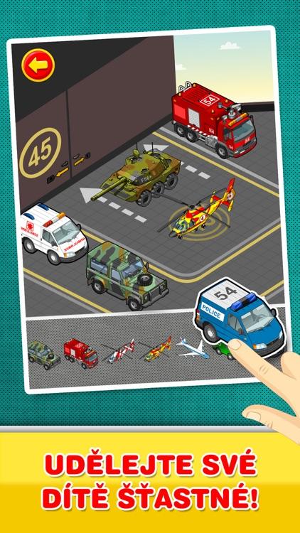 Auta, Kamiony a vozidla : Kreativní hra pro děti screenshot-3
